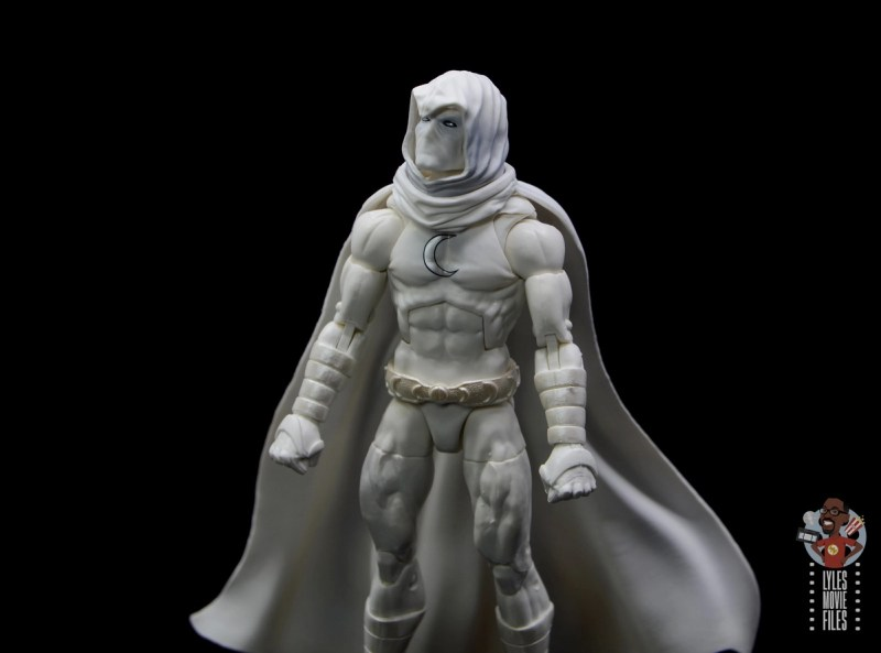 marvel legends moon knight figure review - looking up