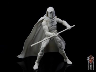 marvel legends moon knight figure review -wielding staff