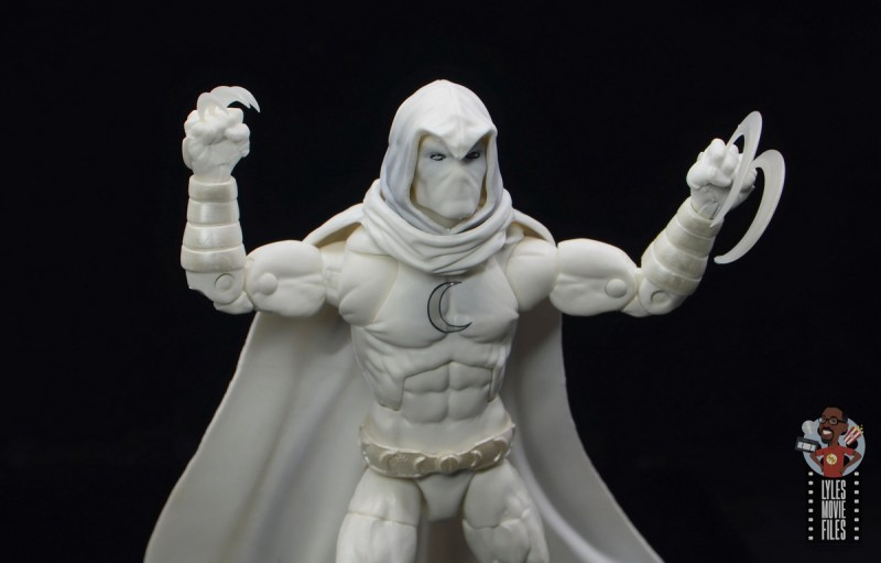 marvel legends moon knight figure review - with shiruken