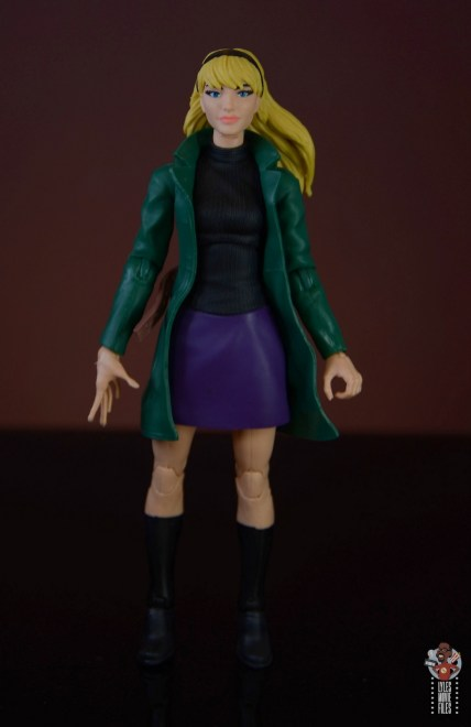 marvel legends retro gwen stacy figure review - front