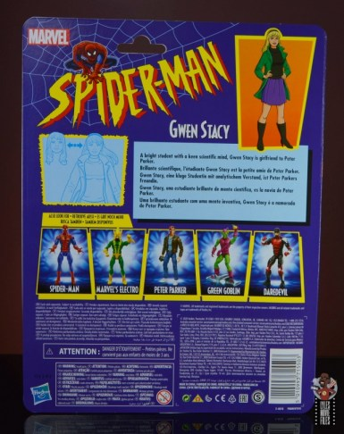 marvel legends retro gwen stacy figure review - package rear
