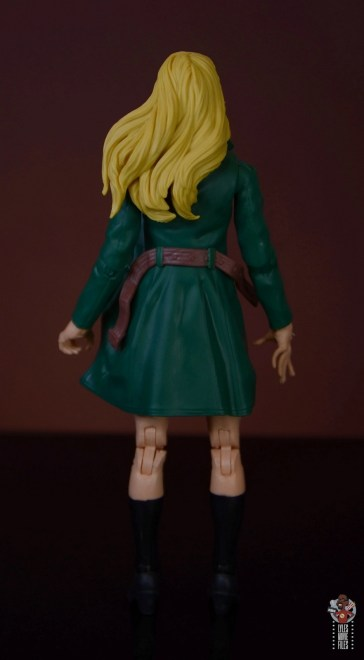 marvel legends retro gwen stacy figure review - rear