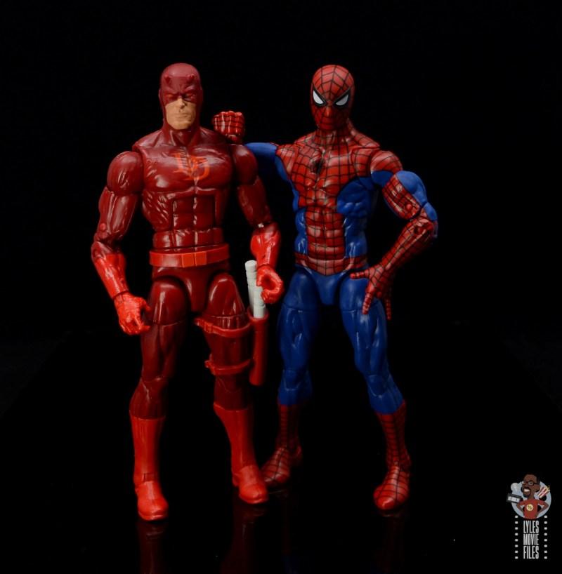 marvel legends retro spider-man figure review - hanging with daredevil