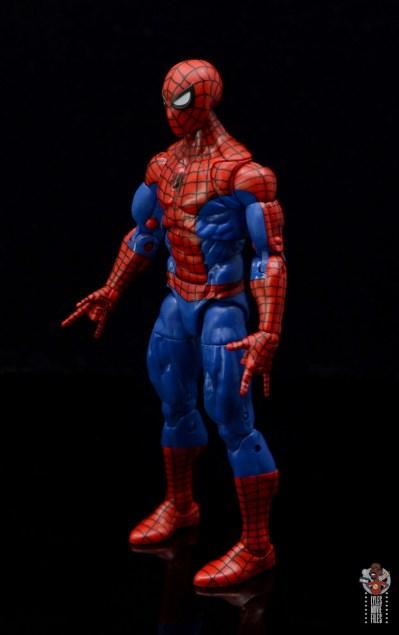 marvel legends retro spider-man figure review -left side