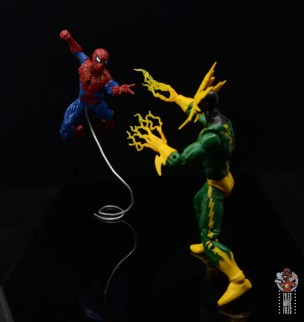 marvel legends retro spider-man figure review - vs electro