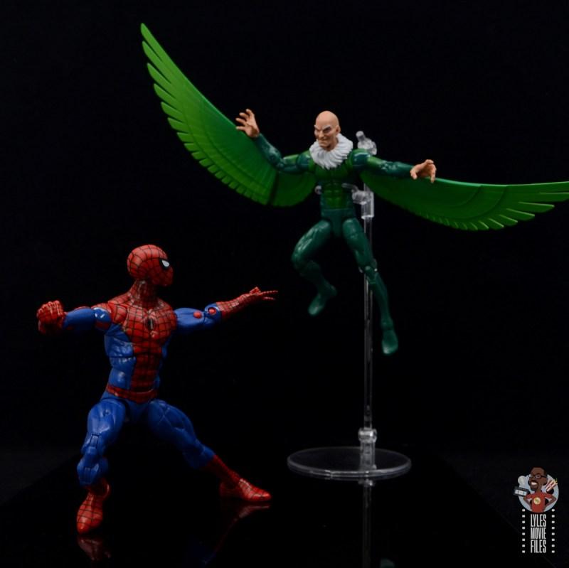 marvel legends retro spider-man figure review - vs vulture