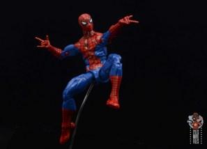marvel legends retro spider-man figure review - web-slinging