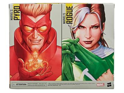 marvel legends rogue and pyro two-pack - package rear