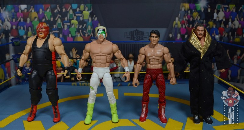 wwe elite 62 sting figure review - scale with vader, ricky steamboat and rick rude