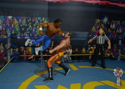 wwe elite hall of champions ron simmons figure review - shoulder block to rick rude