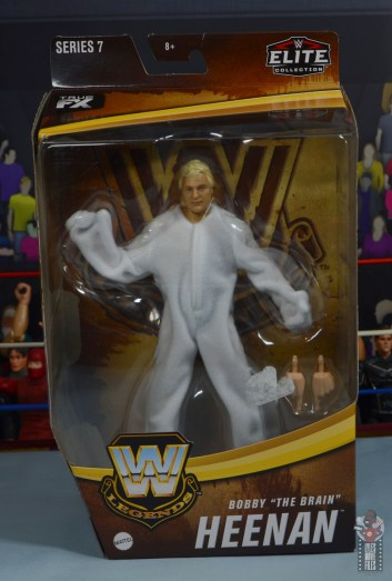 wwe legends 7 bobby the brain heenan figure review - package front