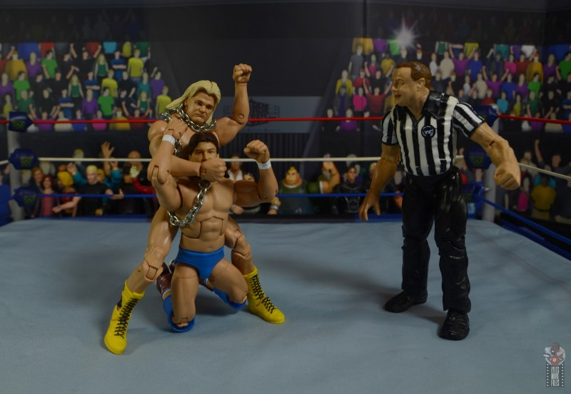 wwe legends 7 greg the hammer valentine figure review - dog collar match with roddy piper