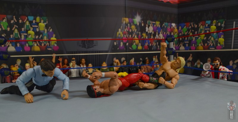 wwe legends 7 greg the hammer valentine figure review -figure four on ricky steamboat