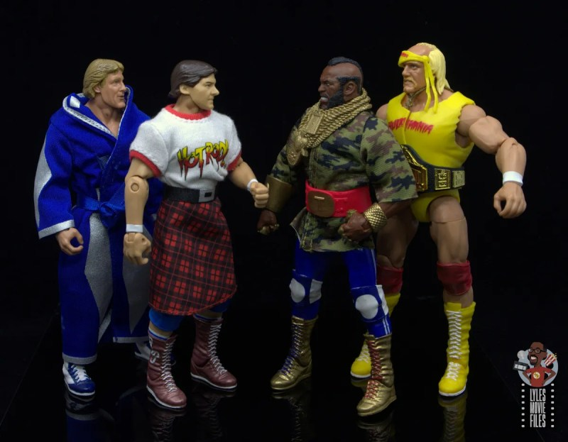 wwe sdcc elite mr. t figure review -face off with paul orndorff and rowdy roddy piper