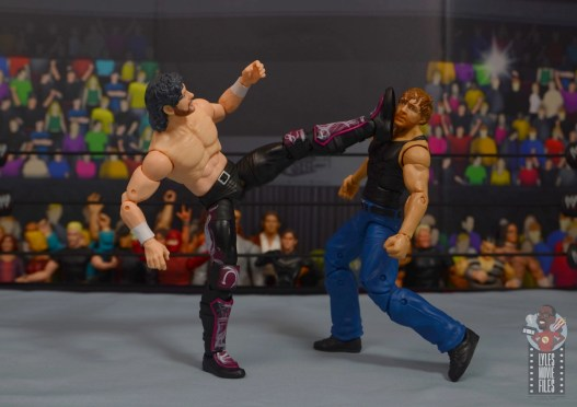 aew unrivaled kenny omega figure review - boot to jon moxley