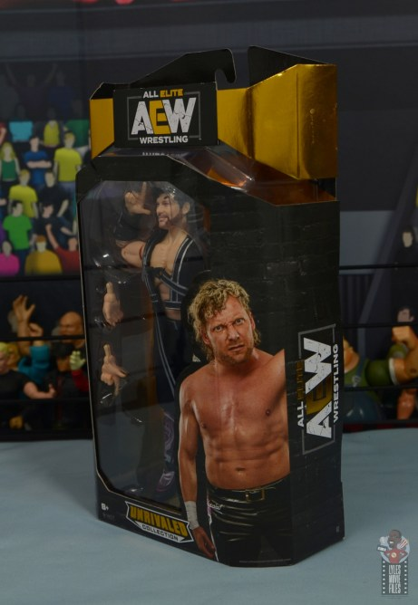 aew unrivaled kenny omega figure review - package left side