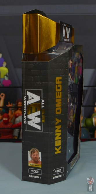 aew unrivaled kenny omega figure review - package right side