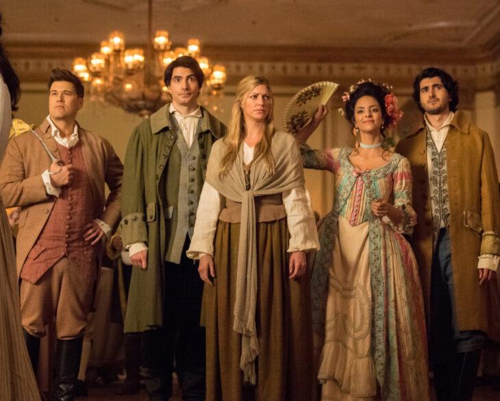 dc's legends-of-tomorrow-season 5 - nate, ray, ava, zari and behrad