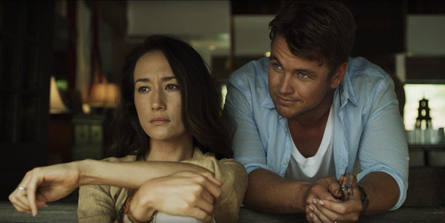 death of me review - maggie q and luke hemsworth