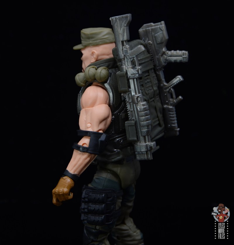 g.i. joe classified series gung-ho figure review - guns on backpack