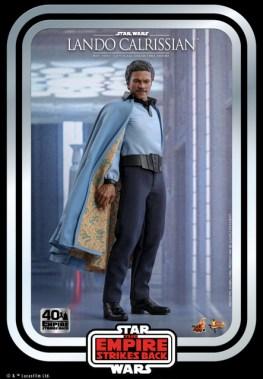 hot toys empire strikes back lando calrissian figure -holding cloak open
