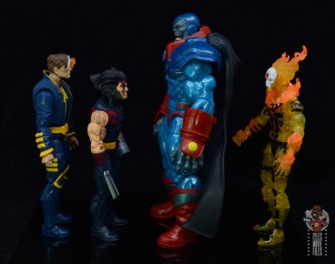 marvel legends apocaylpse - apocalypse figure review -facing x-man, weapon x and sunfire