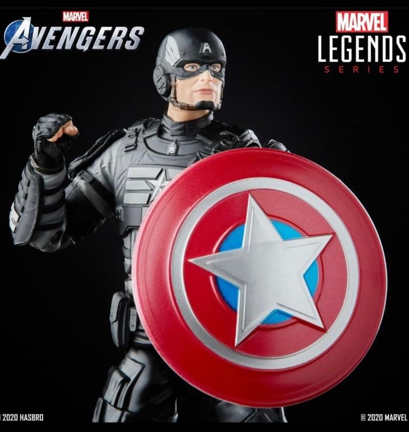marvel legends marvel's avengers captain america