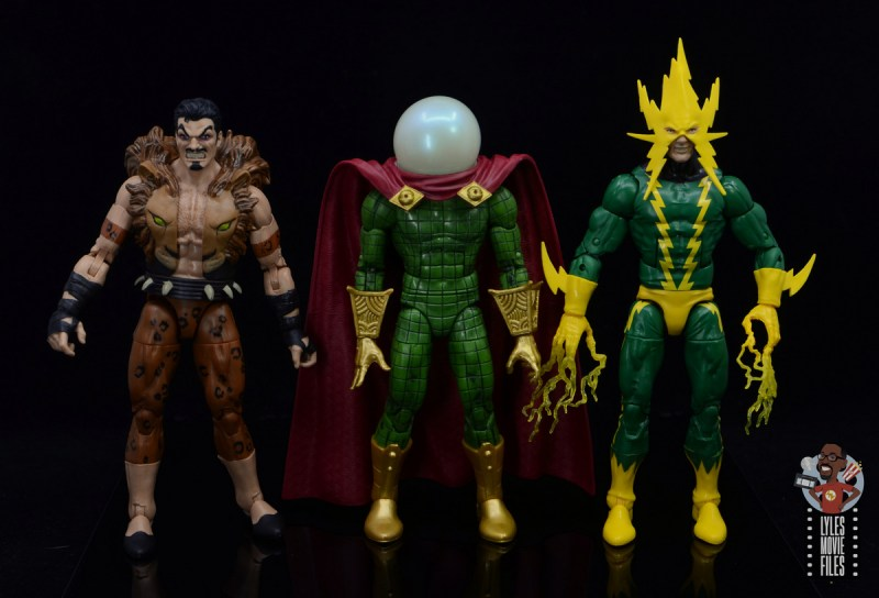 marvel legends retro mysterio figure review - scale with kraven and electro