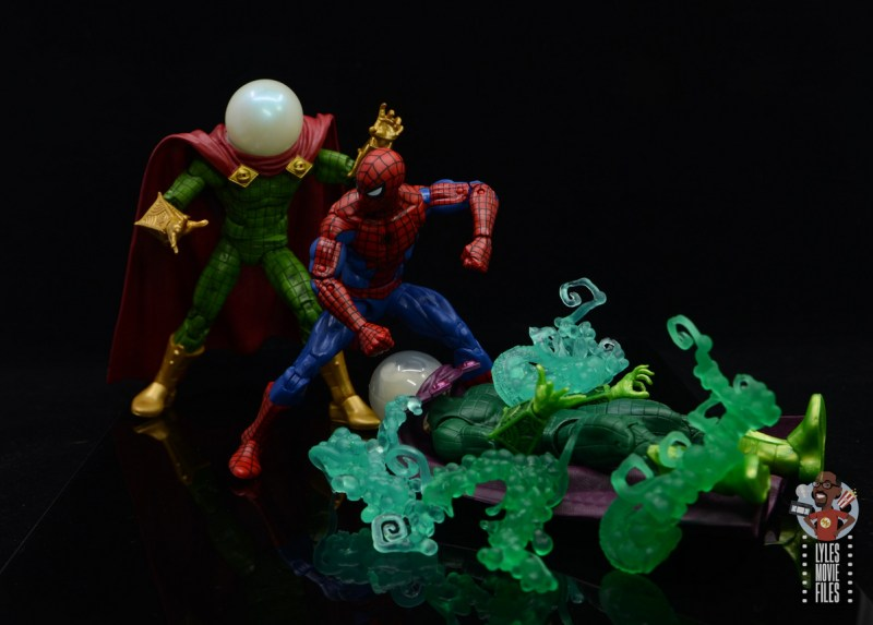 marvel legends retro mysterio figure review - sneaking up on spider-man