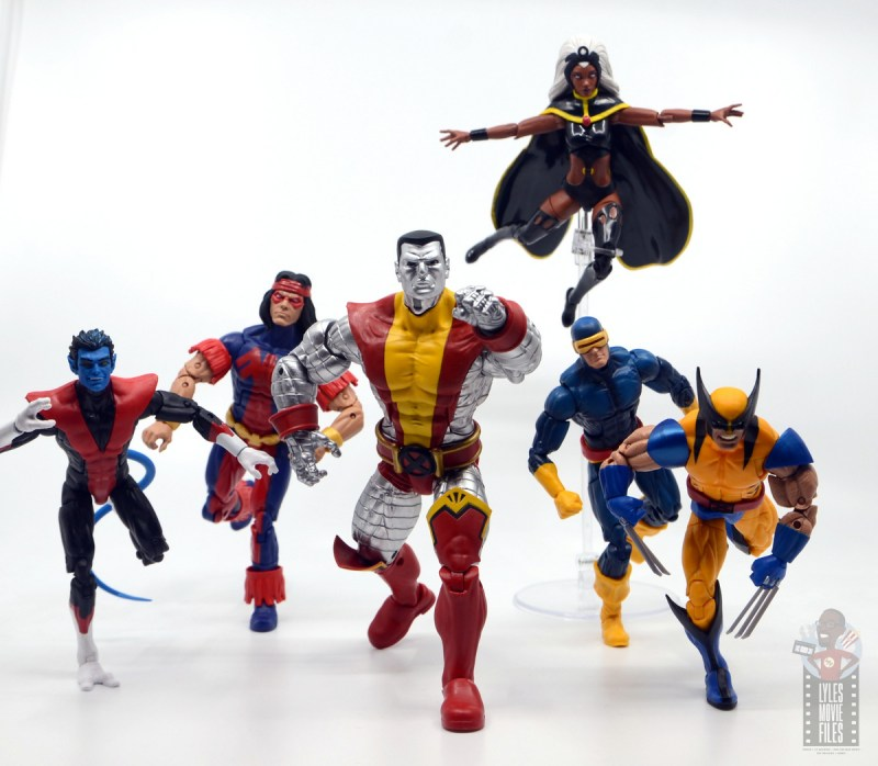 marvel legends storm and thunderbird figure review - giant sized x-men cover nightcrawler, thunderbird, colossus, storm, cyclops and wolverine