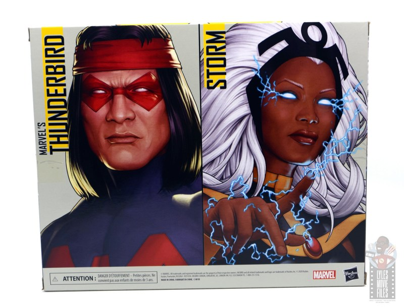 marvel legends storm and thunderbird figure review - package rear