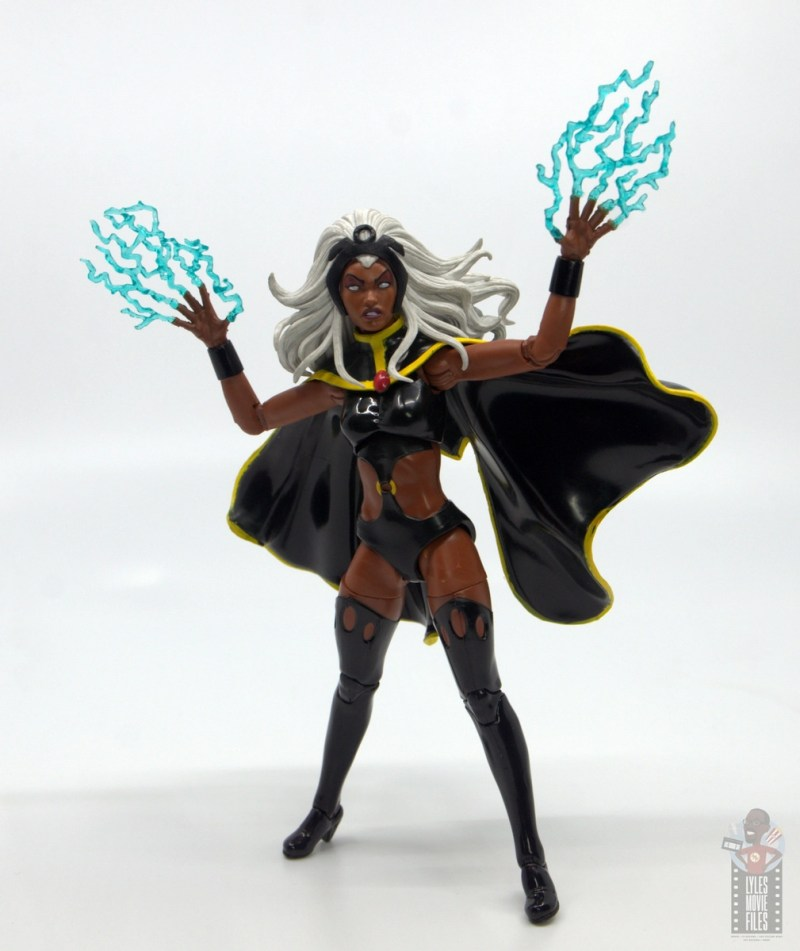 marvel legends storm and thunderbird figure review - storm channeling lightning