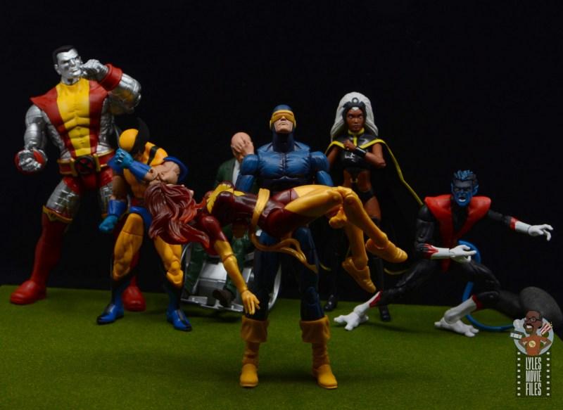 marvel legends storm and thunderbird figure review -x-men mourn the death of dark phoenix