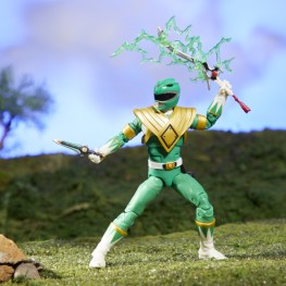 mighty morphin power rangers green ranger figure - accessories drawn
