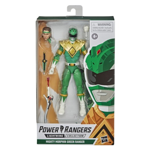 mighty morphin power rangers green ranger figure - front package