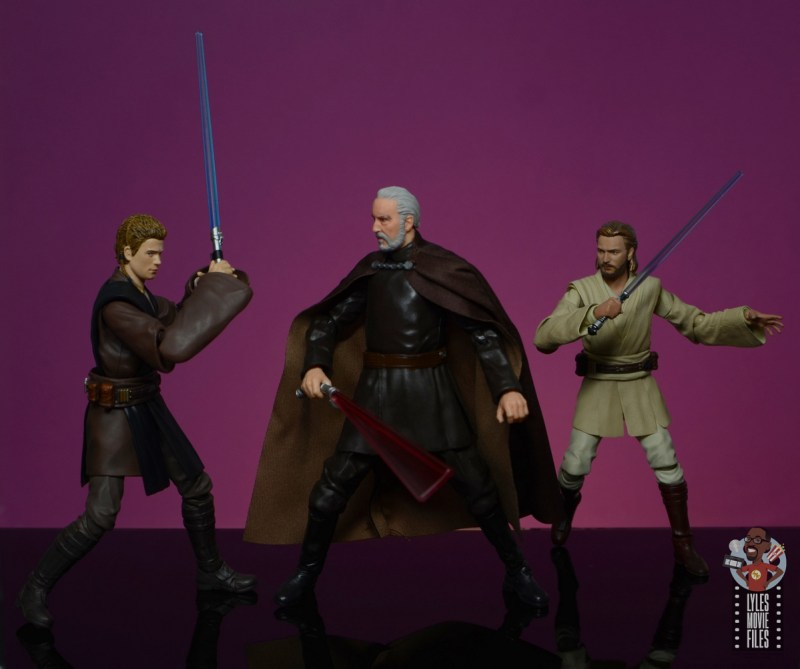 star wars the black series count dooku figure review - duel with anakin skywalker and obi-wan