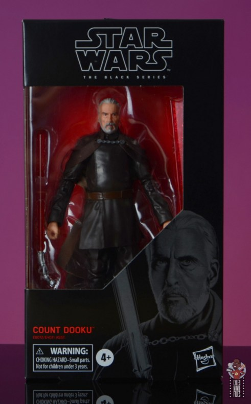 star wars the black series count dooku figure review - package front