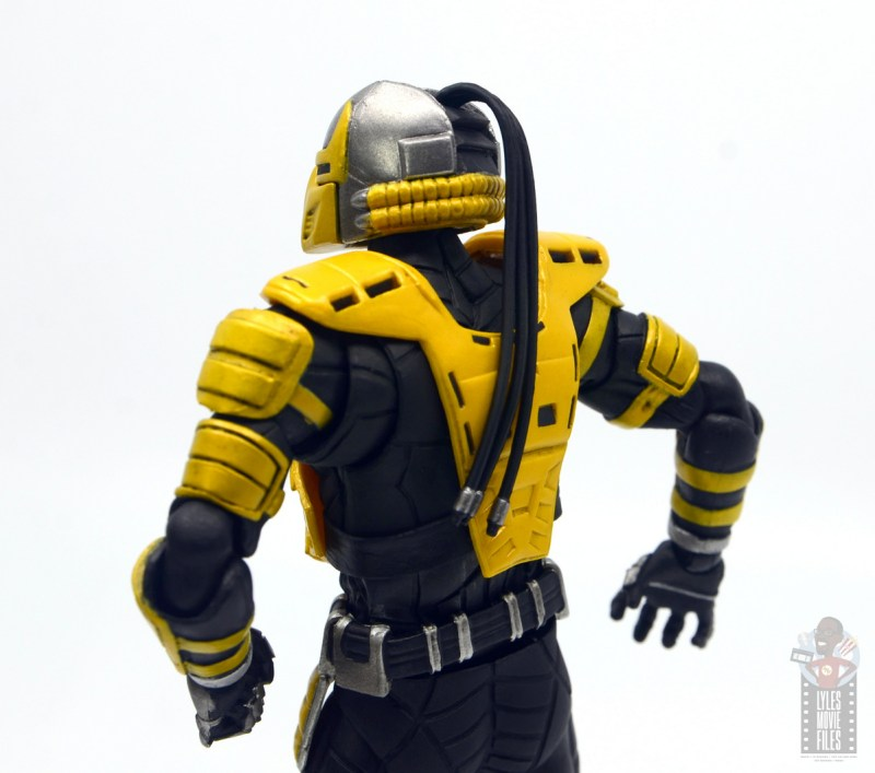 storm collectibles mortal kombat cyrax figure review - hair braid detail