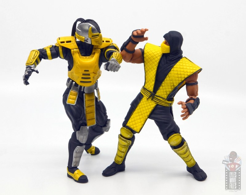 storm collectibles mortal kombat cyrax figure review - vs scorpion
