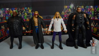 wwe elite brood christian figure review - scale with viscera, edge and undertaker