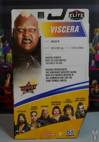 wwe elite series 77 viscera figure review - package rear