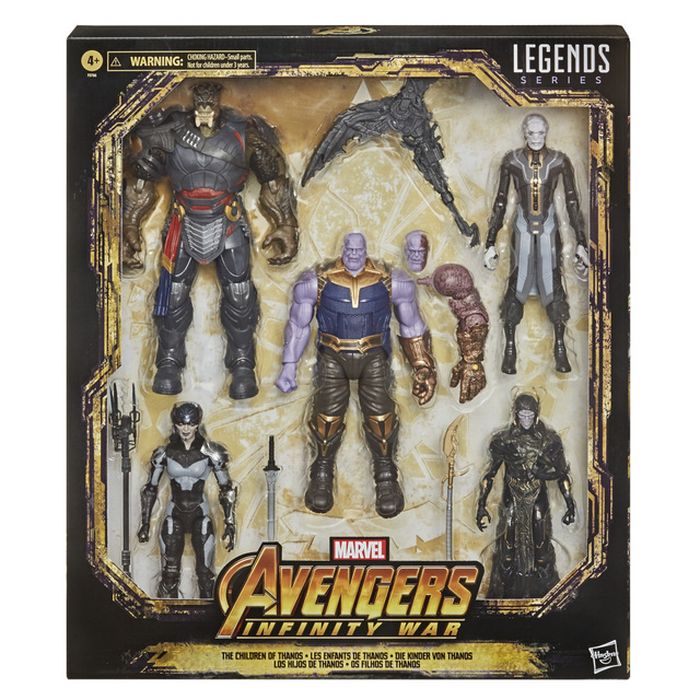 MARVEL LEGENDS SERIES 6-INCH-SCALE THE CHILDREN OF THANOS Figure 5-Pack - in pck
