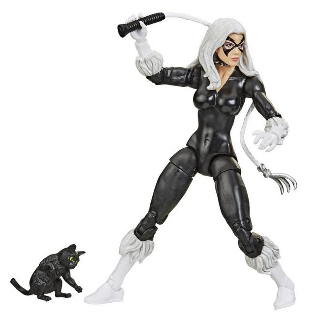 Spider-Man Retro Marvel Legends Black Cat 6-Inch Action Figure - wide shot