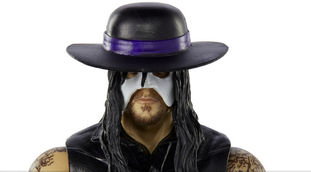 WWE Mattel WWE legends The Undertaker - close up