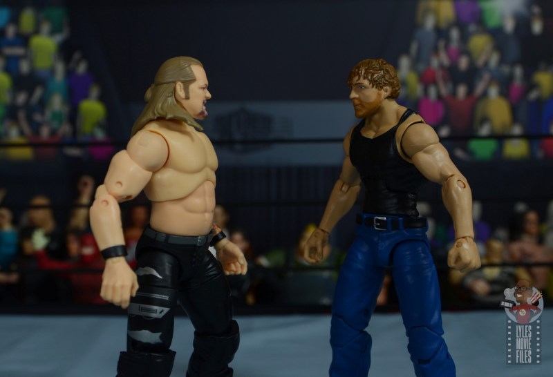 aew unrivaled chris jericho figure review - face off with jon moxley