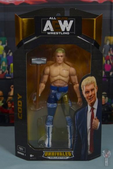 aew unrivaled cody figure review - package front