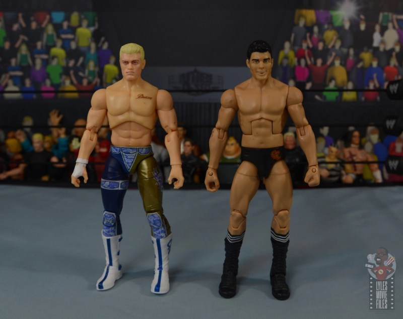 aew unrivaled cody figure review -scale with mattel cody rhodes