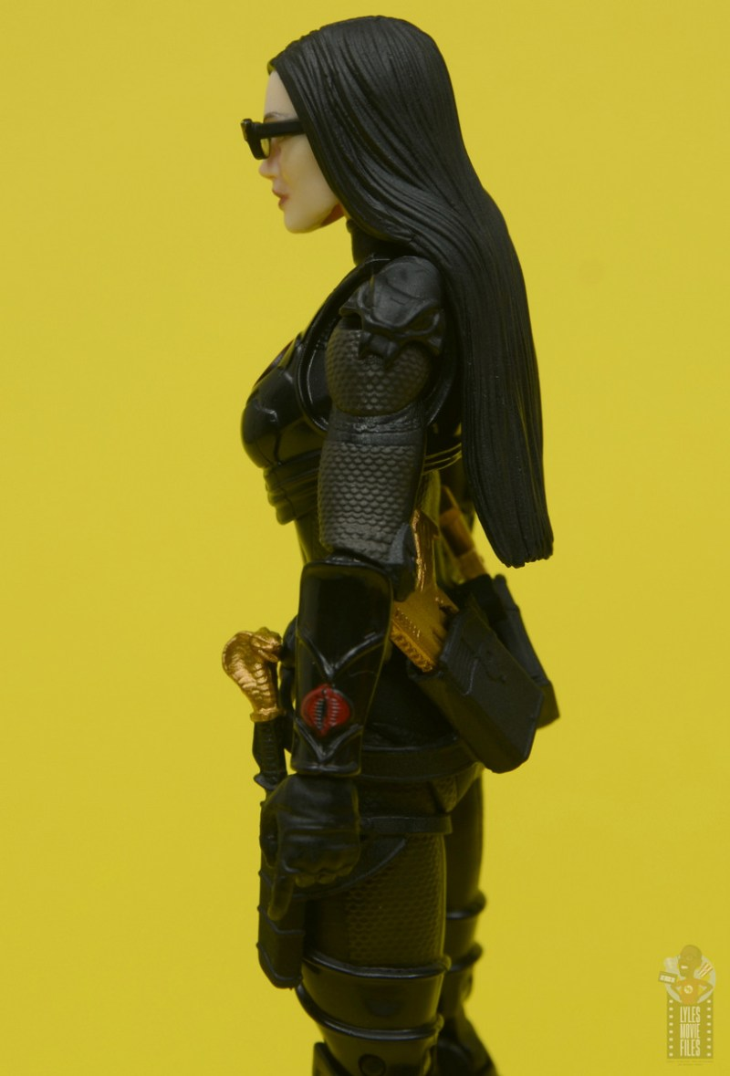 g.i. joe classified series baroness and cobra coil figure review - baroness close up left side