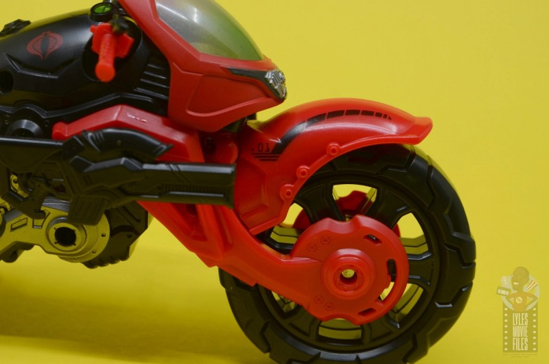 g.i. joe classified series baroness and cobra coil figure review -cobra coil front wheel detail