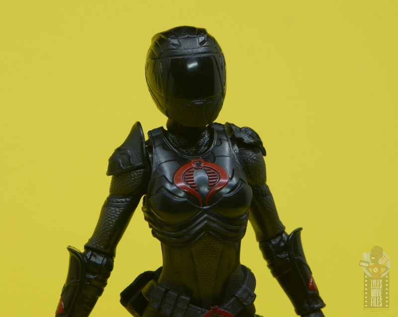 g.i. joe classified series baroness and cobra coil figure review - helmet close up